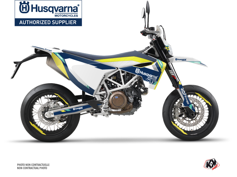 Husqvarna 701 Supermoto Street Bike Rocky Graphic Kit Blue