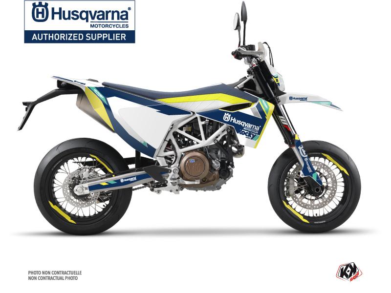Husqvarna 701 Supermoto Dirt Bike Rocky Graphic Kit Blue