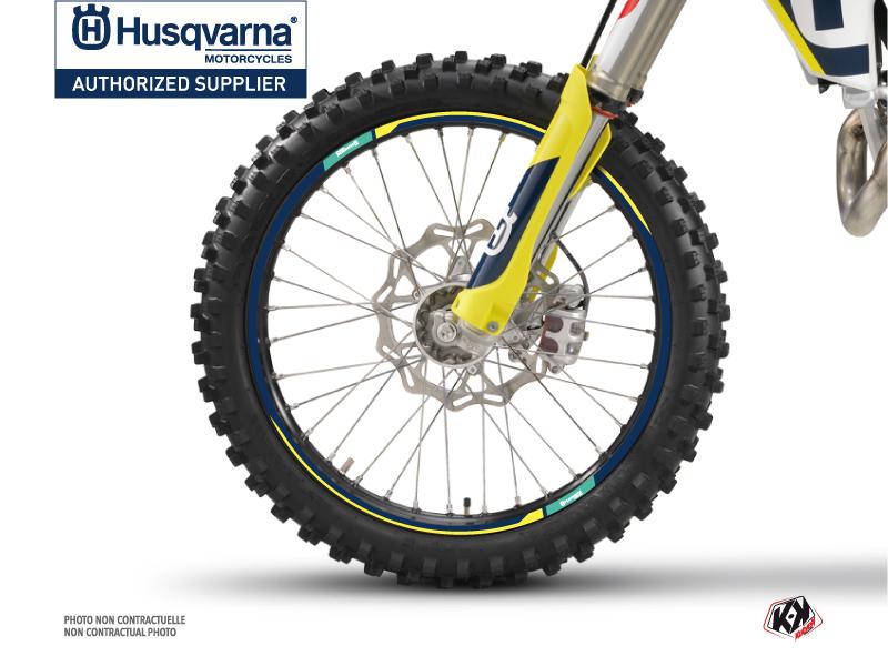 Kit Déco Tour de jantes Rocky Moto Cross Husqvarna TC-FC TE-FE Bleu