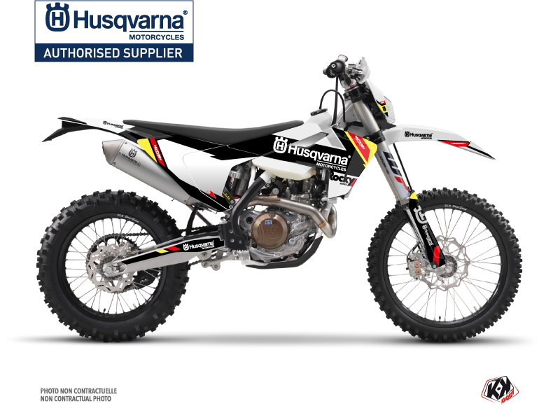 Husqvarna 350 FE Dirt Bike Rocky Graphic Kit Black