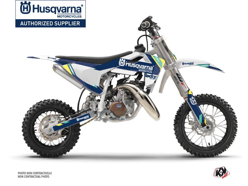 Husqvarna TC 50 Dirt Bike Rocky Graphic Kit Blue