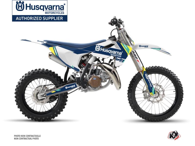 Husqvarna TC 85 Dirt Bike Rocky Graphic Kit Blue