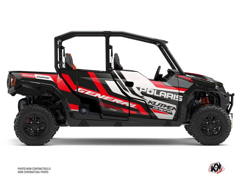 Polaris GENERAL 1000 4 doors UTV Root Graphic Kit Red  Black