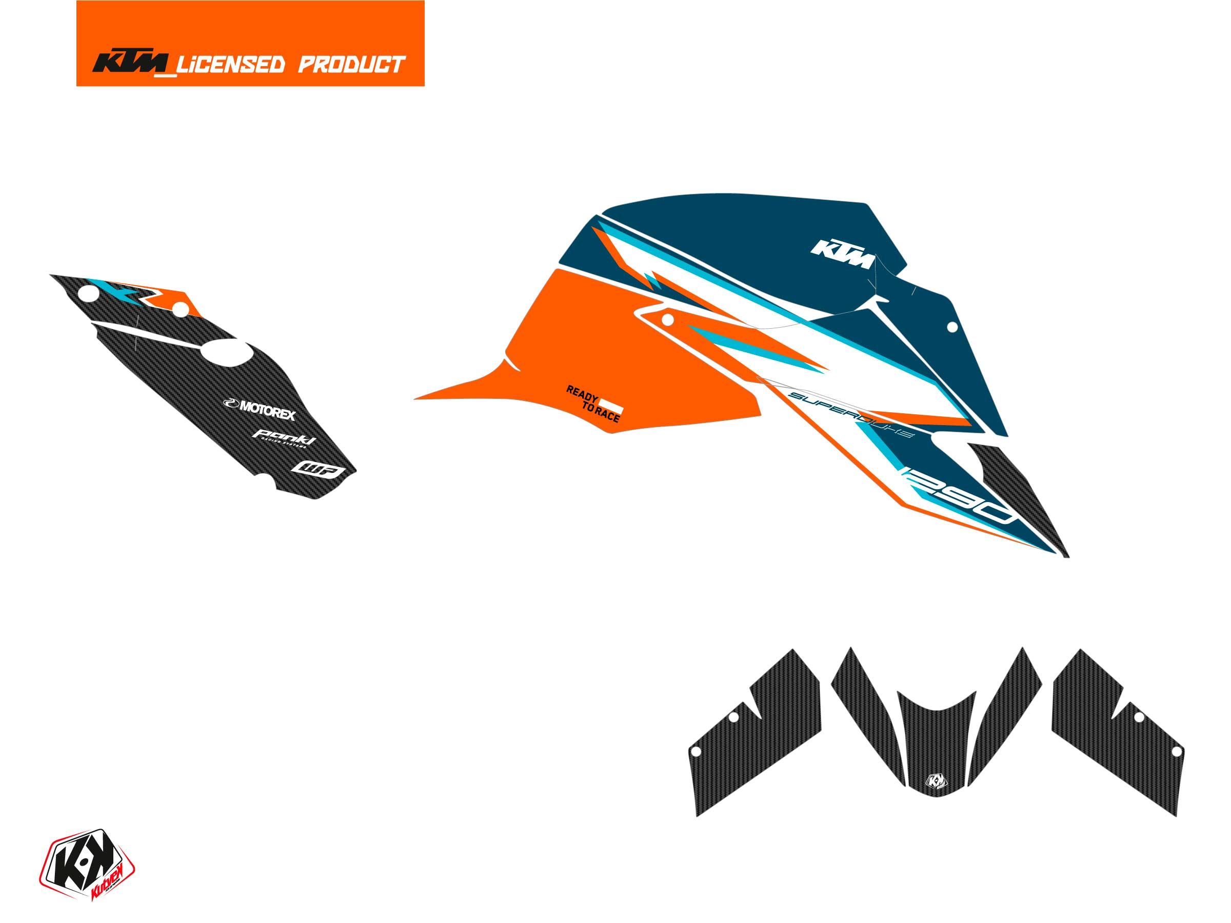 KTM Super Duke 1290 R 2020-2022 Street Bike RR21 Graphic Kit Orange