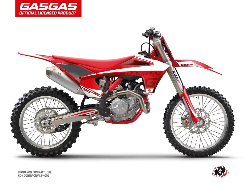 GASGAS MC 125 Dirt Bike Rush Graphic Kit Red