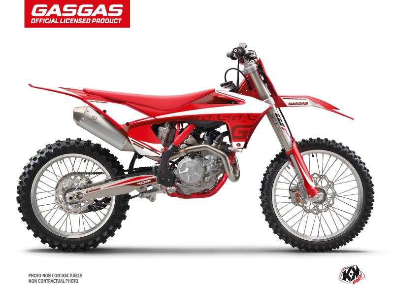 GASGAS MCF 450 Dirt Bike Rush Graphic Kit Red