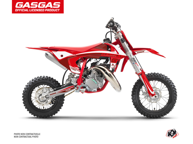 Kit Déco Moto Cross Rush GASGAS MC 50 Rouge