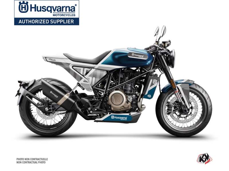 Husqvarna Vitpilen 701 Street Bike Sekment Graphic Kit Blue White