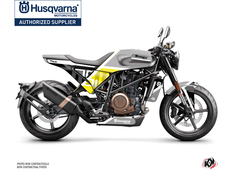 Husqvarna Vitpilen 701 Street Bike Sekment Graphic Kit Black White
