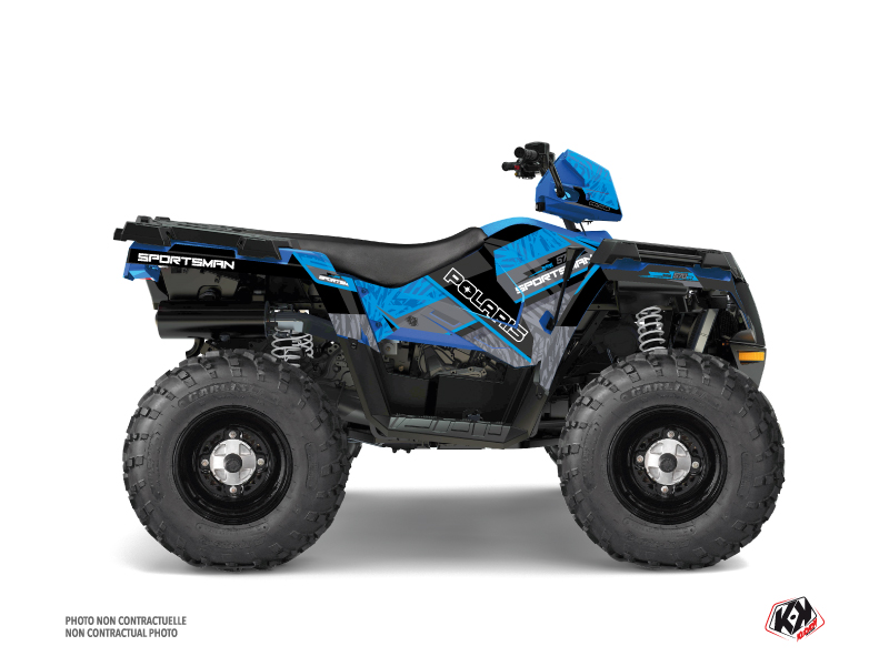 Polaris 570 Sportsman Forest ATV Serie Graphic Kit Blue