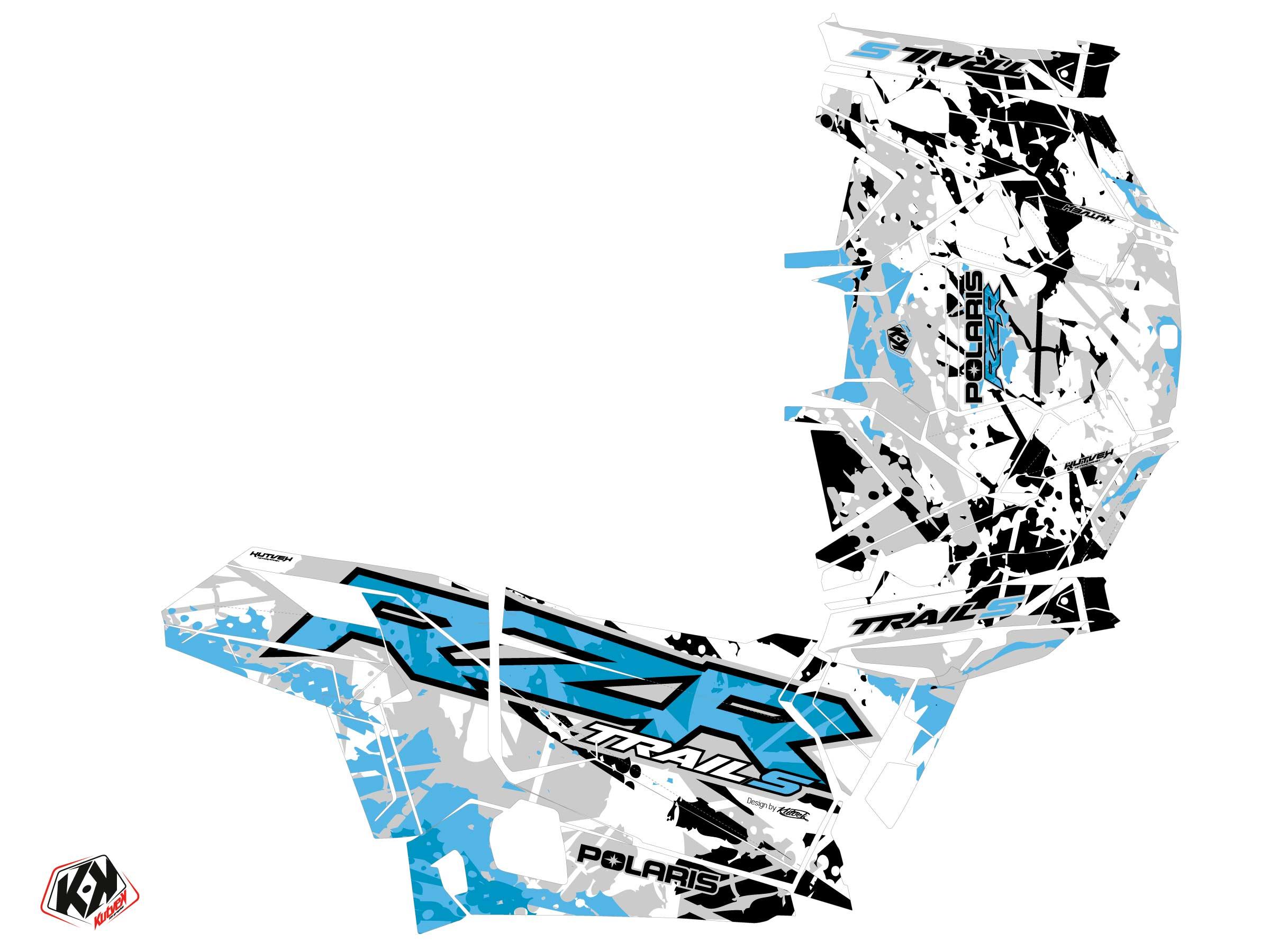 Kit Déco SSV Shred Polaris RZR Trail S Cyan