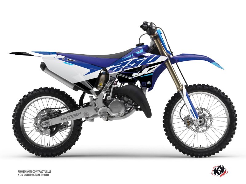 Yamaha 250 YZ Dirt Bike Skew Graphic Kit Blue