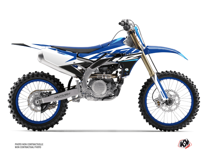 Yamaha 450 YZF Dirt Bike Skew Graphic Kit Blue