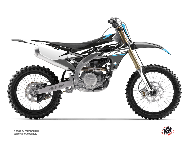 Yamaha 450 YZF Dirt Bike Skew Graphic Kit Grey
