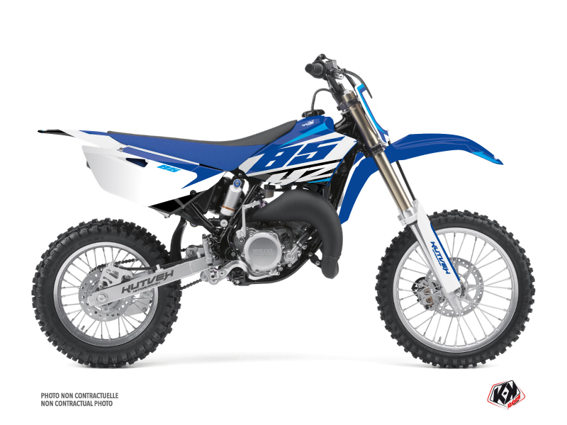Yamaha 85 YZ Dirt Bike Skew Graphic Kit Blue