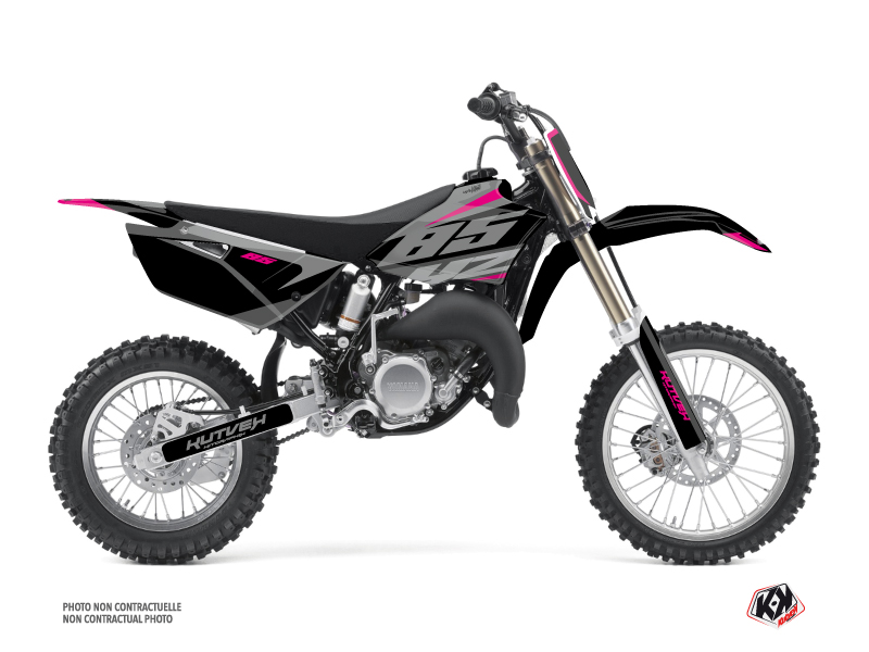 Yamaha 85 YZ Dirt Bike Skew Graphic Kit Pink