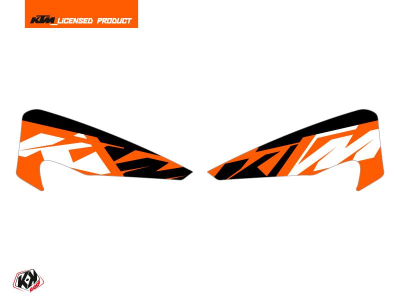 Kit Déco Stickers de protège mains Skyline Moto Cross KTM EXC-EXCF Orange