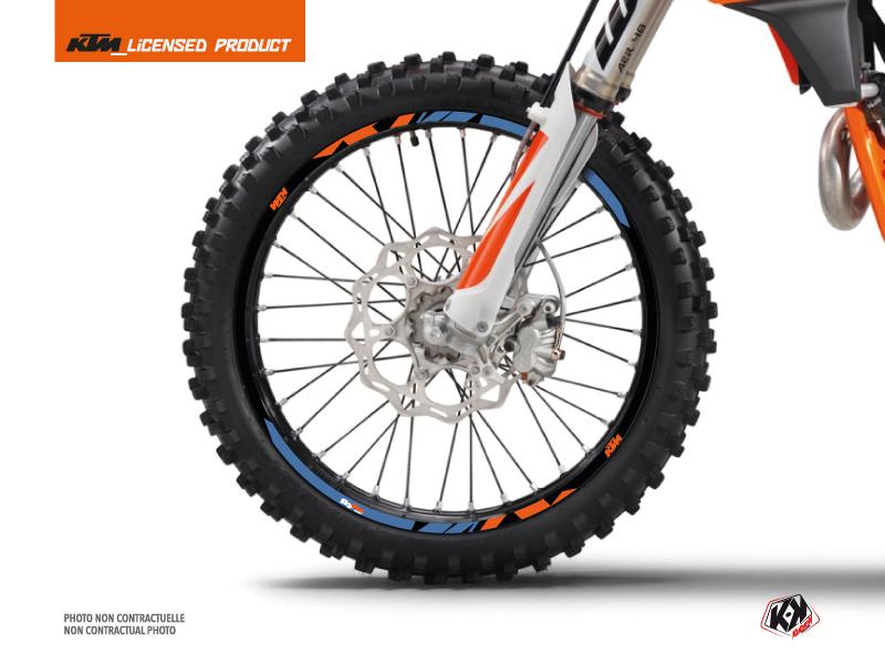 Kit Déco Tour de jantes Skyline Moto Cross KTM SX-SXF EXC-EXCF Bleu