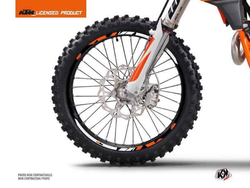 Kit Déco Tour de jantes Skyline Moto Cross KTM SX-SXF EXC-EXCF Orange