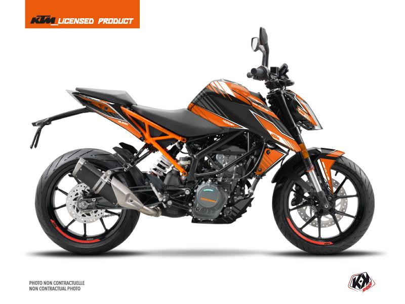 Kit Déco Moto Slash KTM Duke 125 Orange Noir
