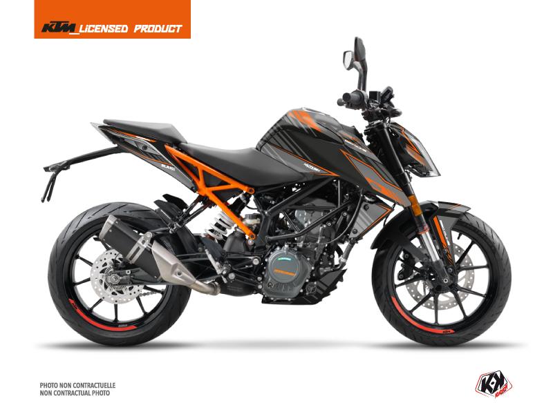 KTM Duke 390 Street Bike Slash Graphic Kit Black Orange