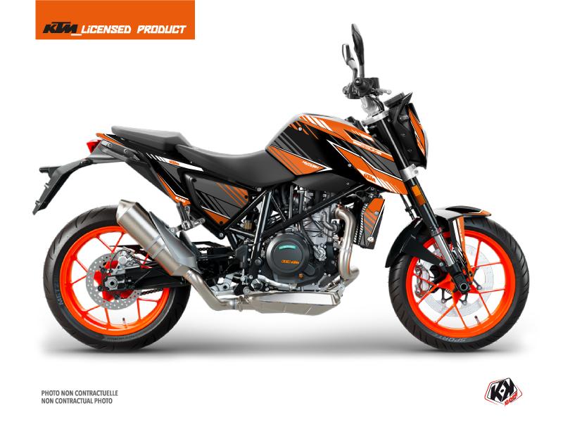 KTM Duke 690 Street Bike Slash Graphic Kit Orange Black