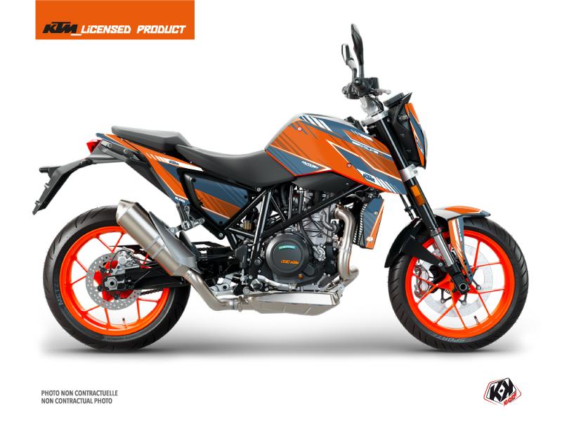 KTM Duke 690 R Street Bike Slash Graphic Kit Orange Blue