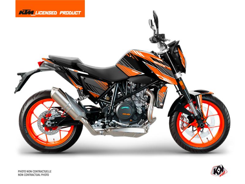 KTM Duke 690 R Street Bike Slash Graphic Kit Orange Black