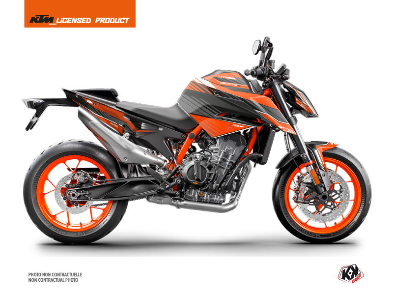 KTM Duke 890 R Street Bike Slash Graphic Kit Orange Black