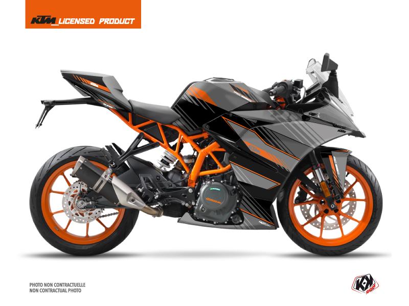 Kit Déco Moto Slash KTM 390 RC Noir Orange