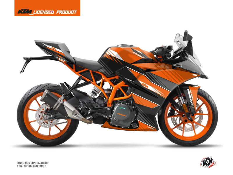 Kit Déco Moto Slash KTM 390 RC Orange Noir