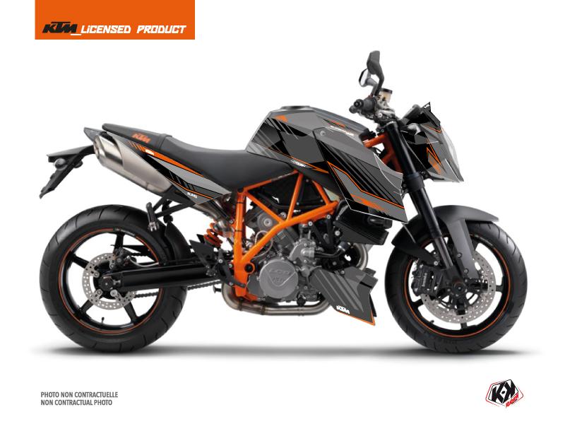 KTM Super Duke 990 Street Bike Slash Graphic Kit Black Orange