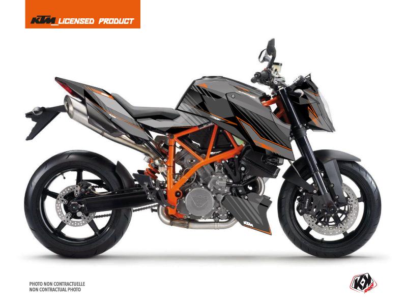 KTM Super Duke 990 R Street Bike Slash Graphic Kit Black Orange