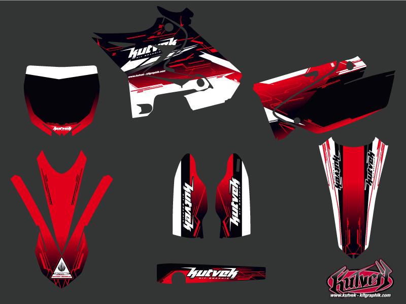 Yamaha 250 YZ Dirt Bike Slider Graphic kit Red UFO Relift