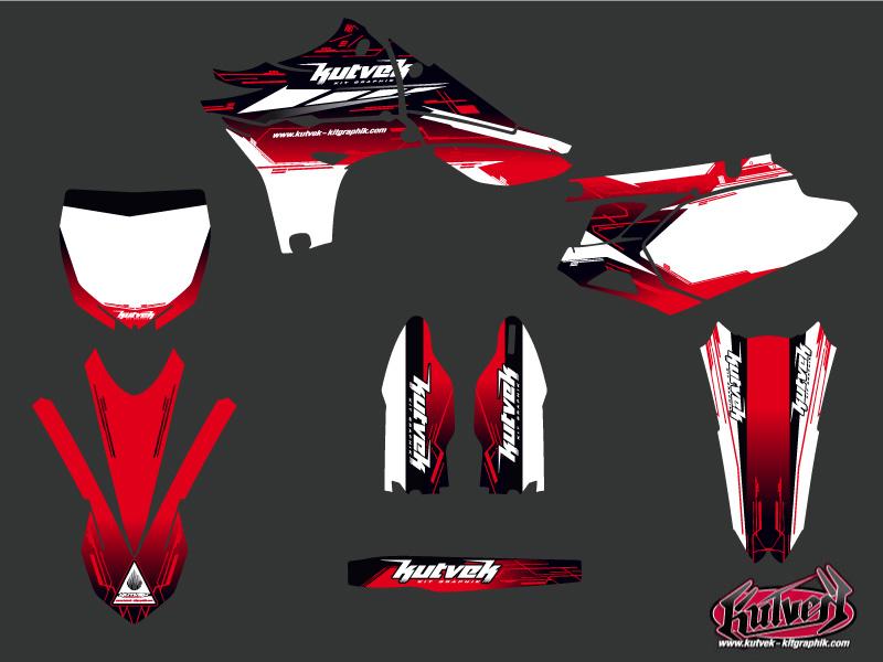Yamaha 450 YZF Dirt Bike Slider Graphic Kit Red