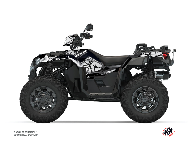 Polaris 1000 Sportsman XP S Forest ATV Spin Graphic Kit Grey