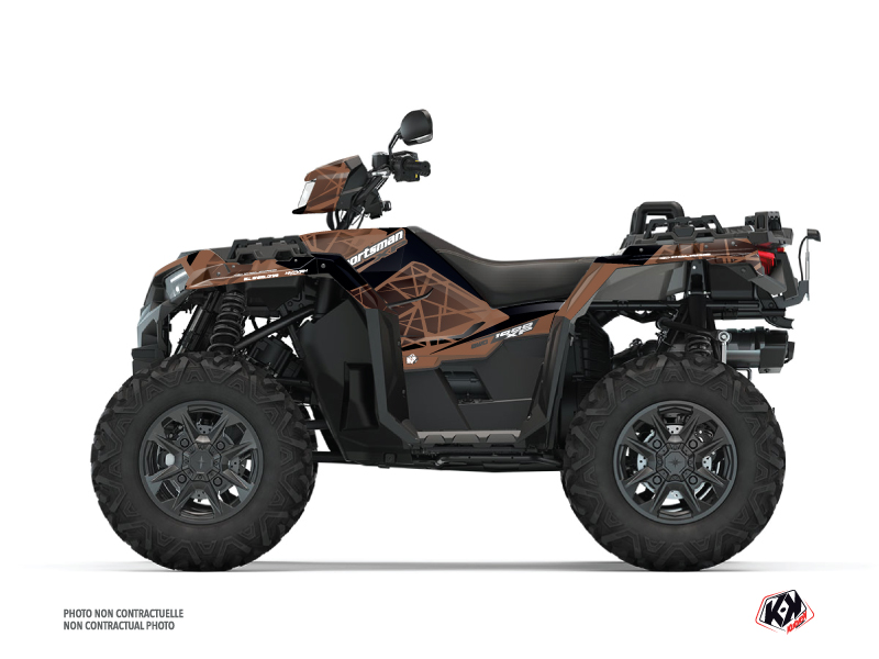 Polaris 1000 Sportsman XP S Forest ATV Spin Graphic Kit Brown