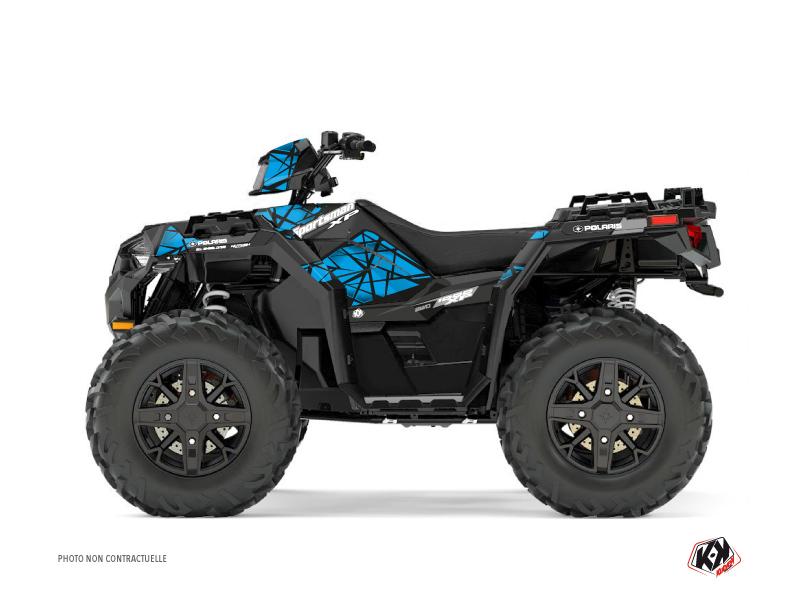 Polaris 1000 Sportsman XP Forest ATV Spin Graphic Kit Blue