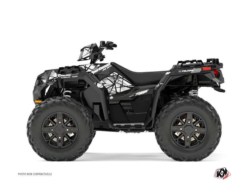 Polaris 1000 Sportsman XP Forest ATV Spin Graphic Kit Grey