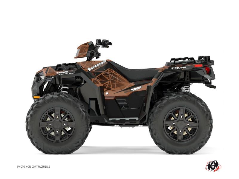 Polaris 1000 Sportsman XP Forest ATV Spin Graphic Kit Brown