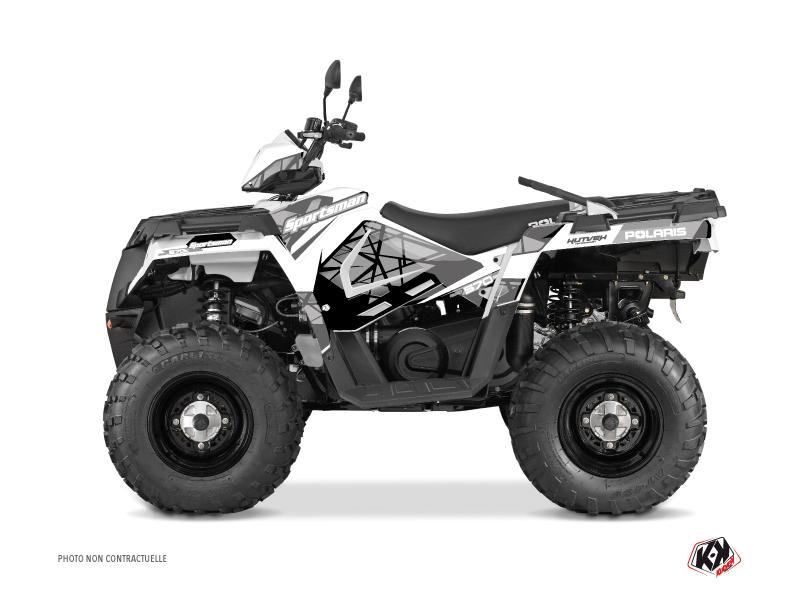 Polaris 570 Sportsman Touring ATV Spin Graphic Kit Grey
