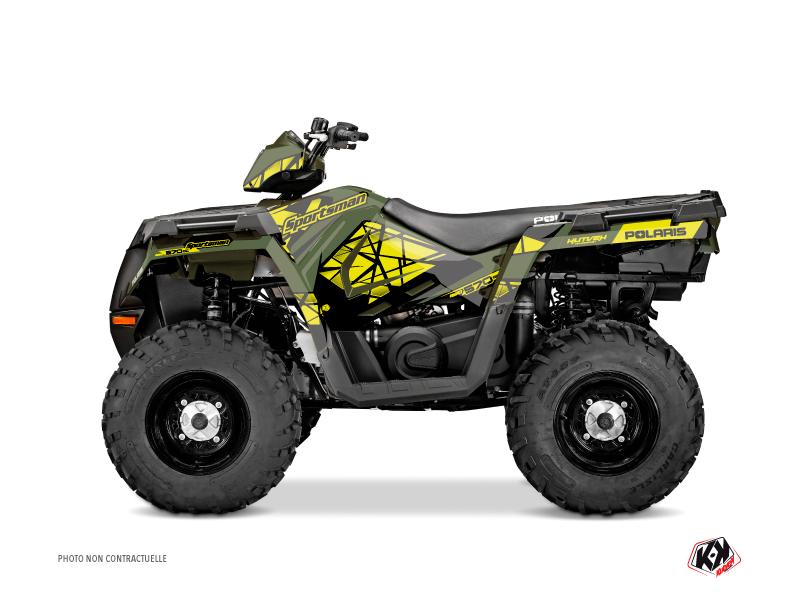 Polaris 570 Sportsman Touring ATV Spin Graphic Kit Yellow