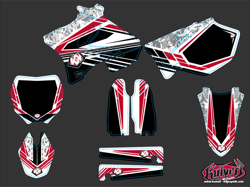 Kit Déco Moto Cross Spirit Yamaha 250 YZ Rouge