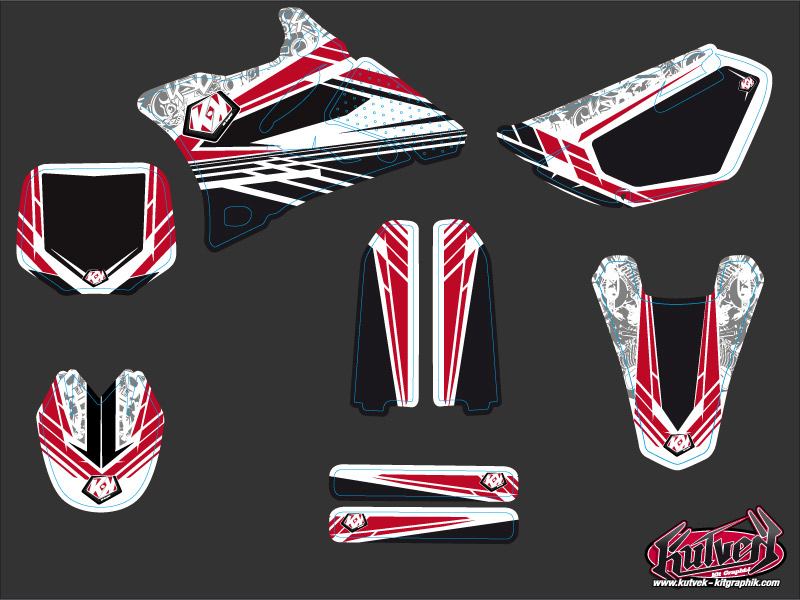 Yamaha 85 YZ Dirt Bike Spirit Graphic Kit Red