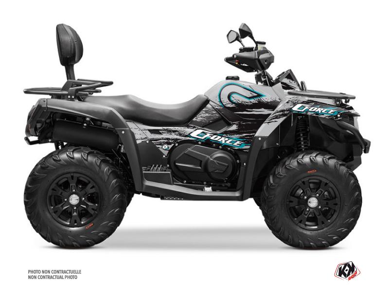 CF MOTO CFORCE 600 ATV Splatter Graphic Kit Grey