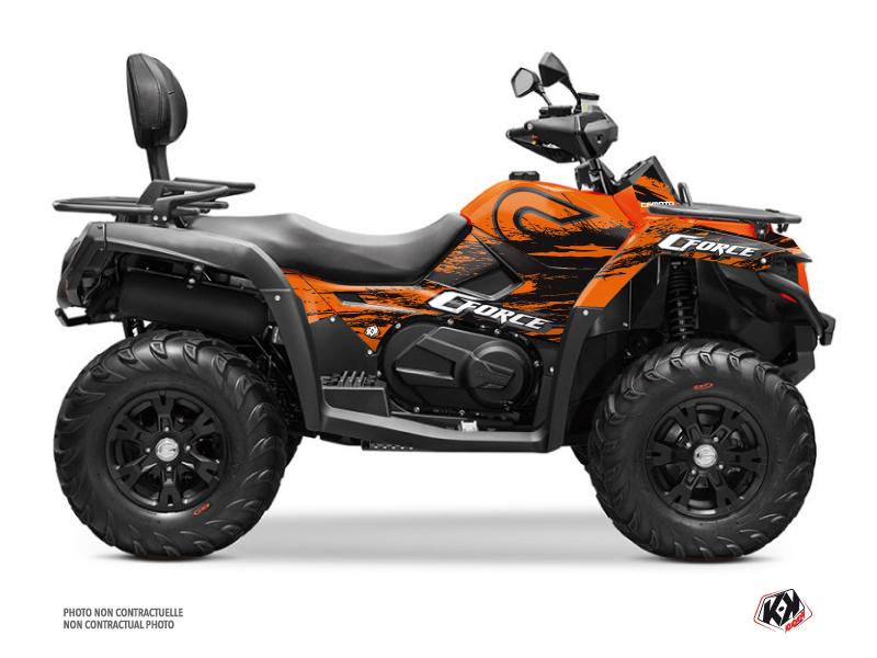 CF MOTO CFORCE 600 ATV Splatter Graphic Kit Orange