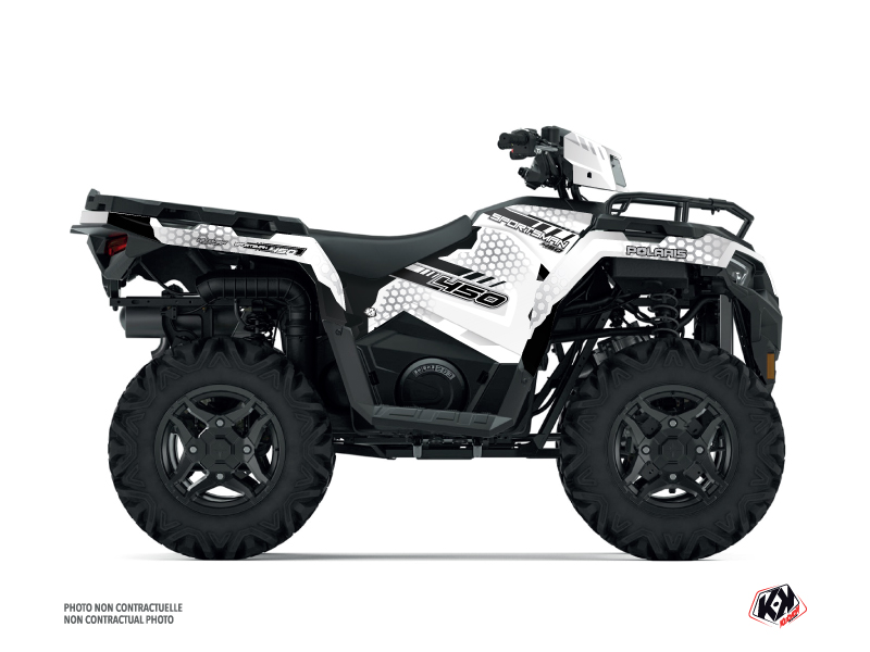Polaris 450 Sportsman ATV Splinter Graphic Kit White