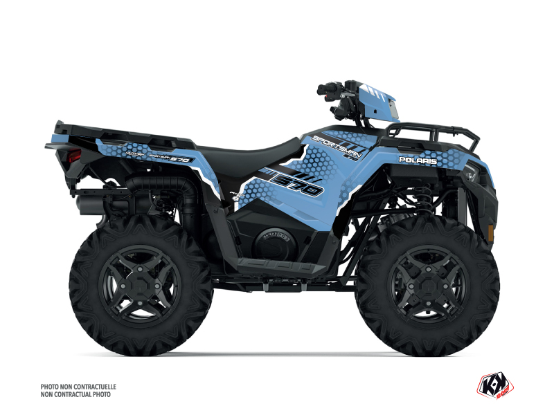 Polaris 570 Sportsman ATV Splinter Graphic Kit Blue