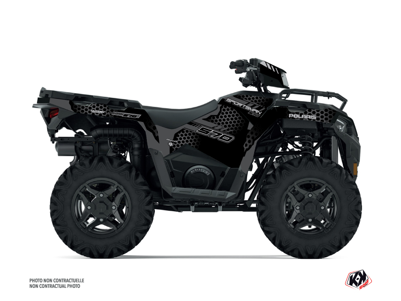 Polaris 570 Sportsman ATV Splinter Graphic Kit Black