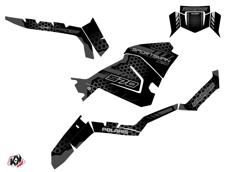 Polaris 570 Sportsman ATV Splinter Graphic Kit Black